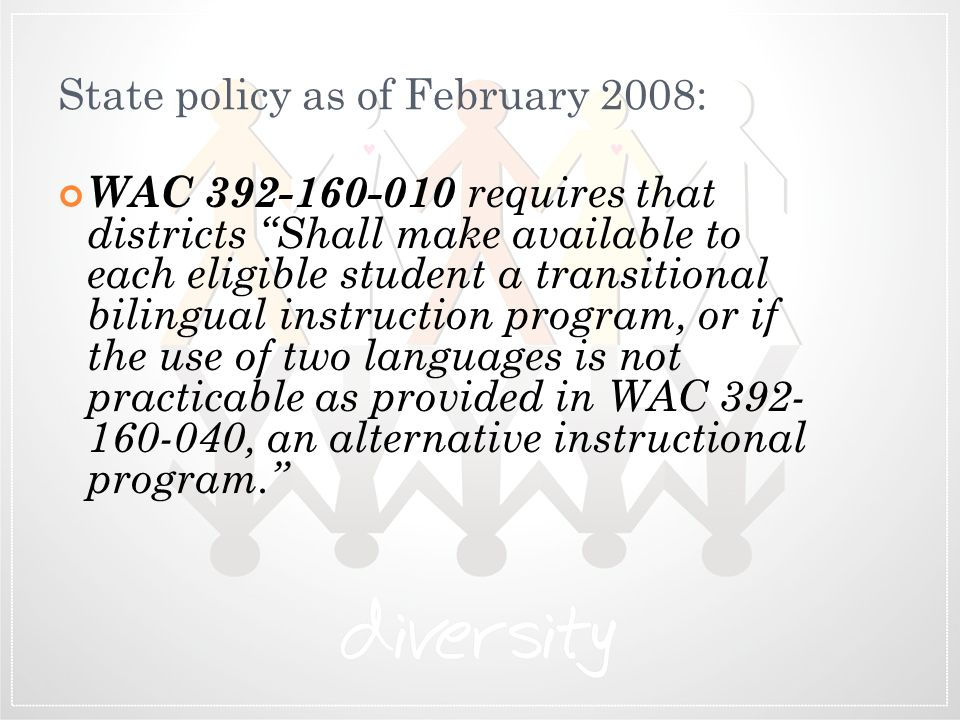 State policy as of February 2008: