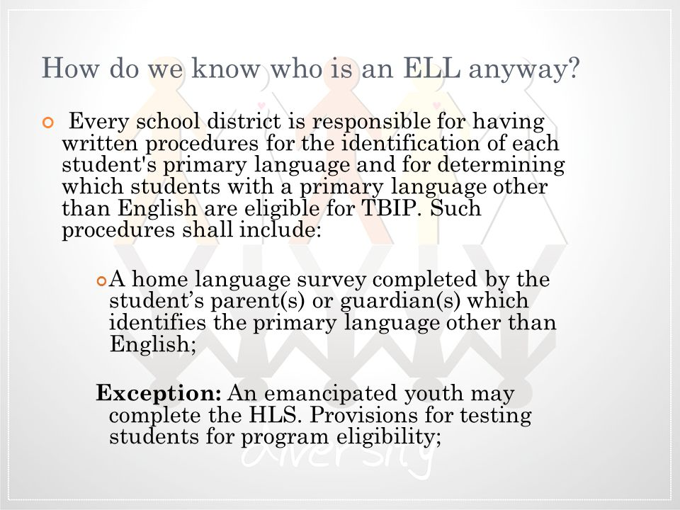 How do we know who is an ELL anyway