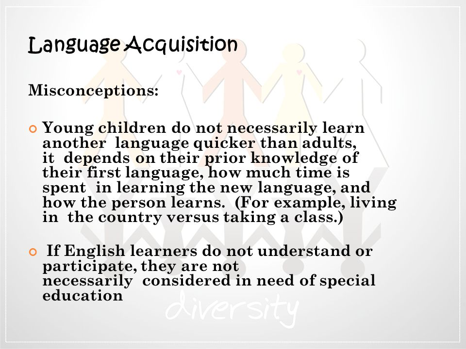 Language Acquisition Misconceptions: