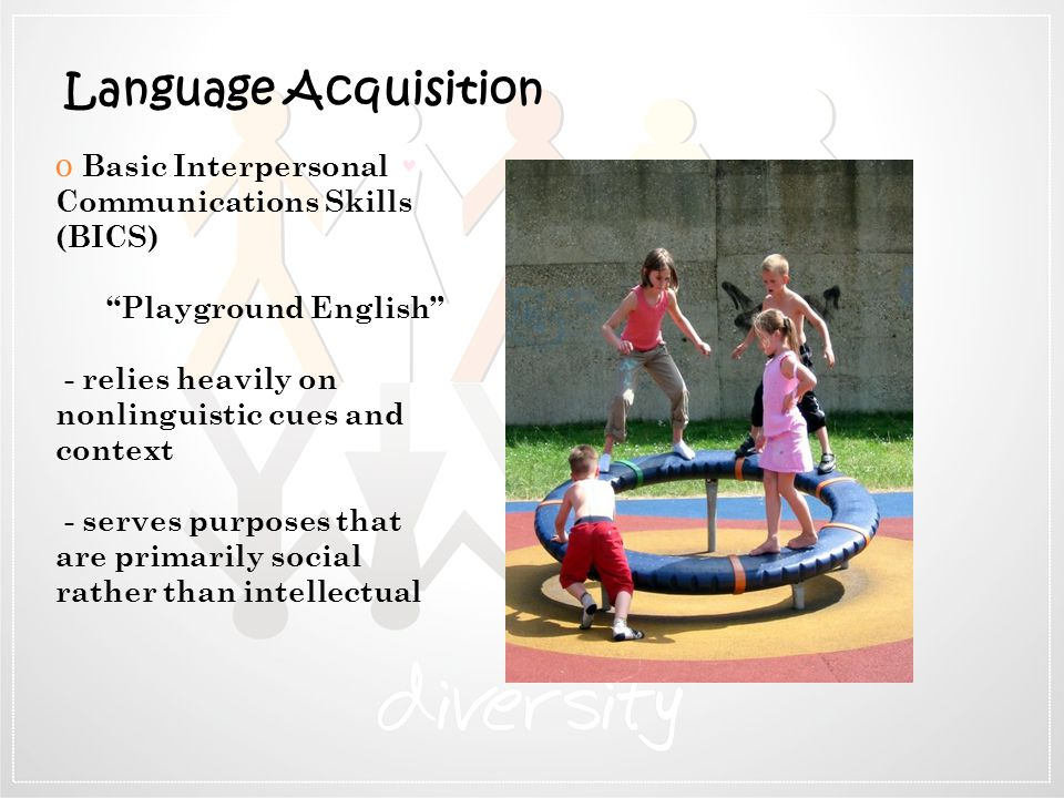 Language Acquisition Basic Interpersonal Communications Skills (BICS)