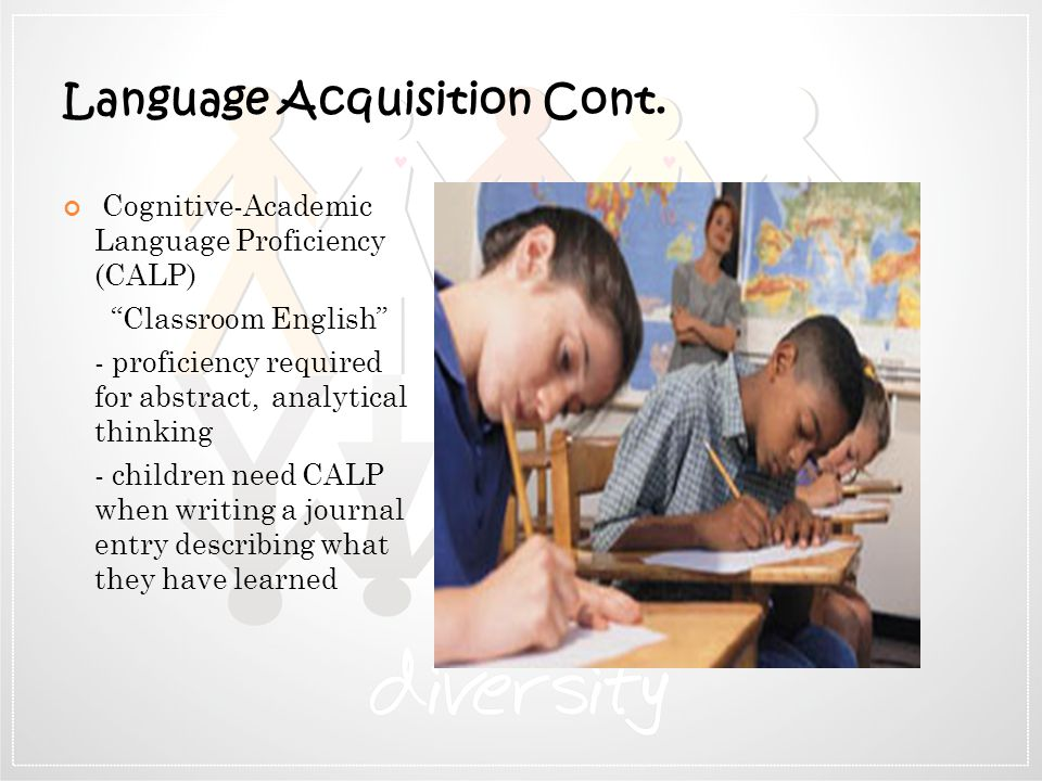 Language Acquisition Cont.