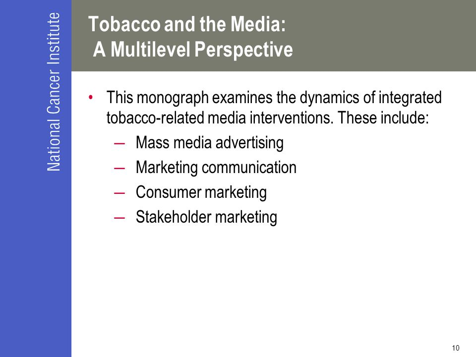 Tobacco and the Media: A Multilevel Perspective