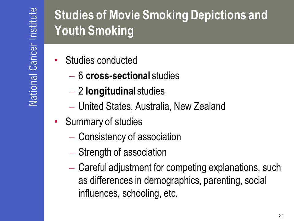 Studies of Movie Smoking Depictions and Youth Smoking