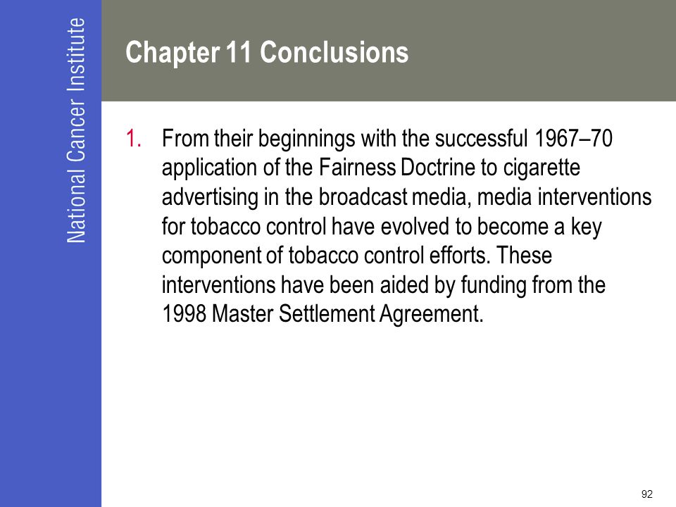Chapter 11 Conclusions