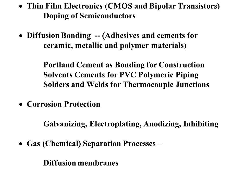· Thin Film Electronics (CMOS and Bipolar Transistors)