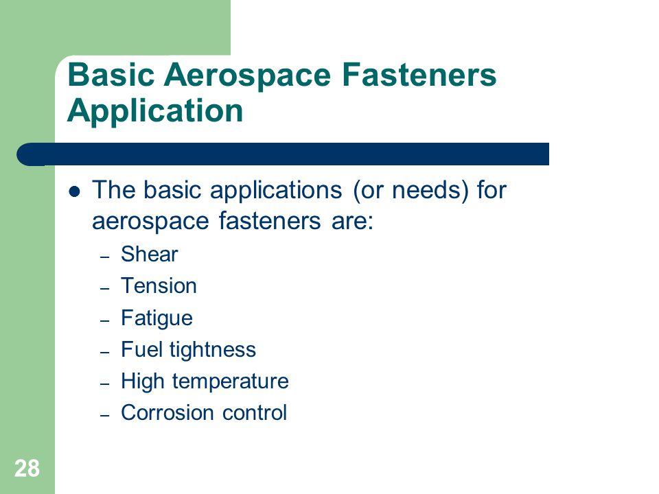 Basic Aerospace Fasteners Application