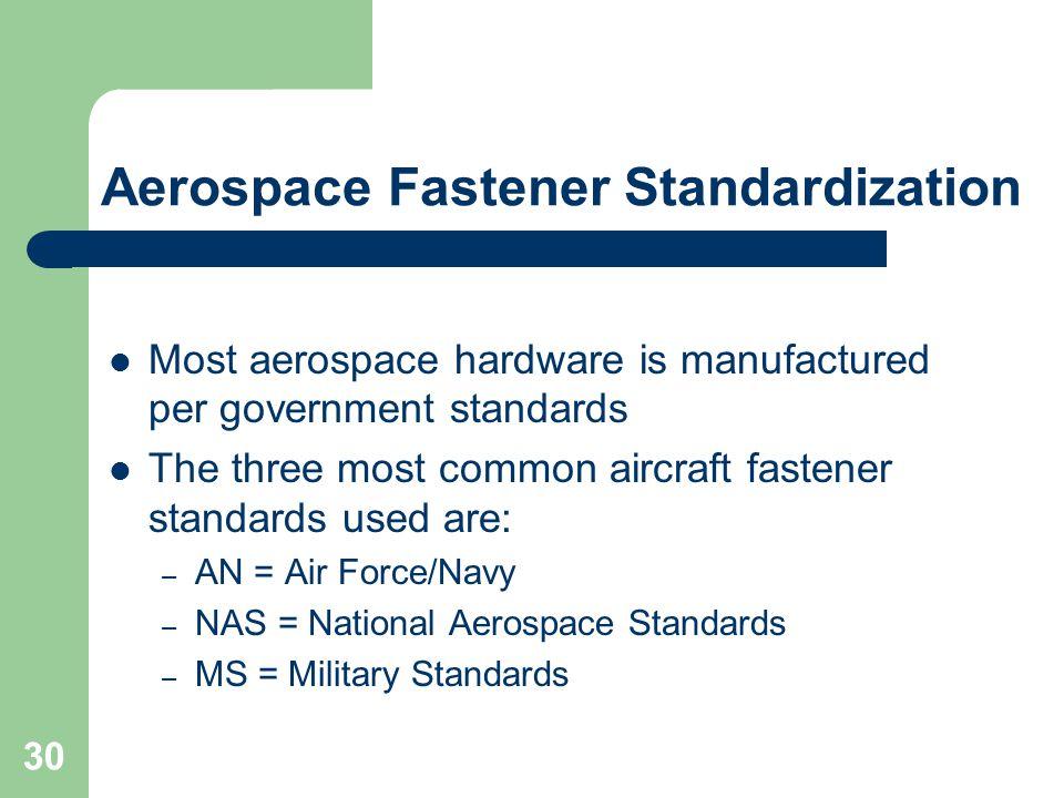 Aerospace Fastener Standardization