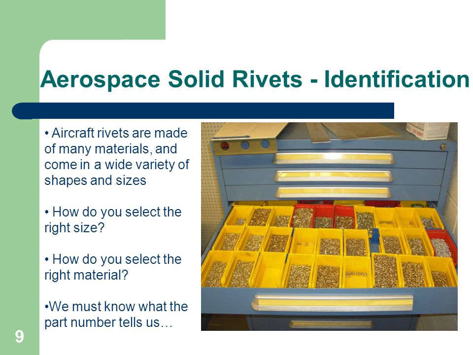 Aerospace Solid Rivets - Identification
