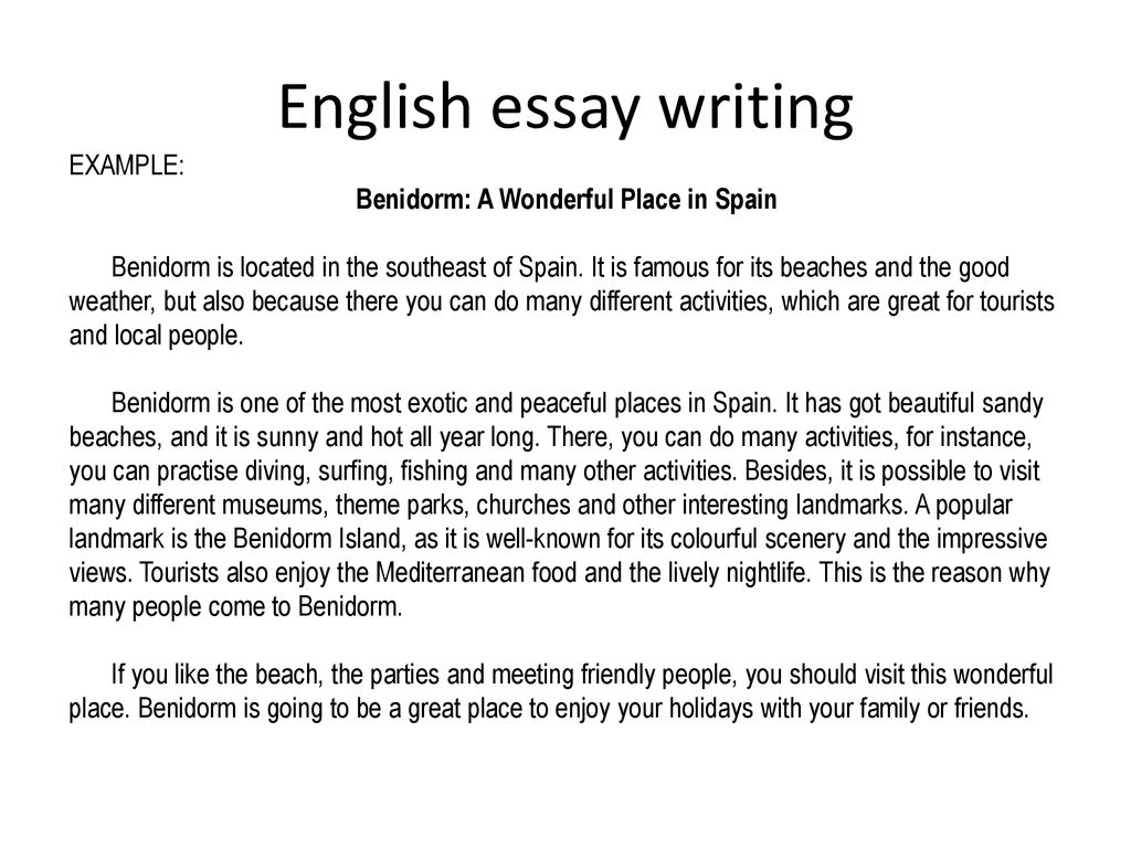 Example essay holiday with family