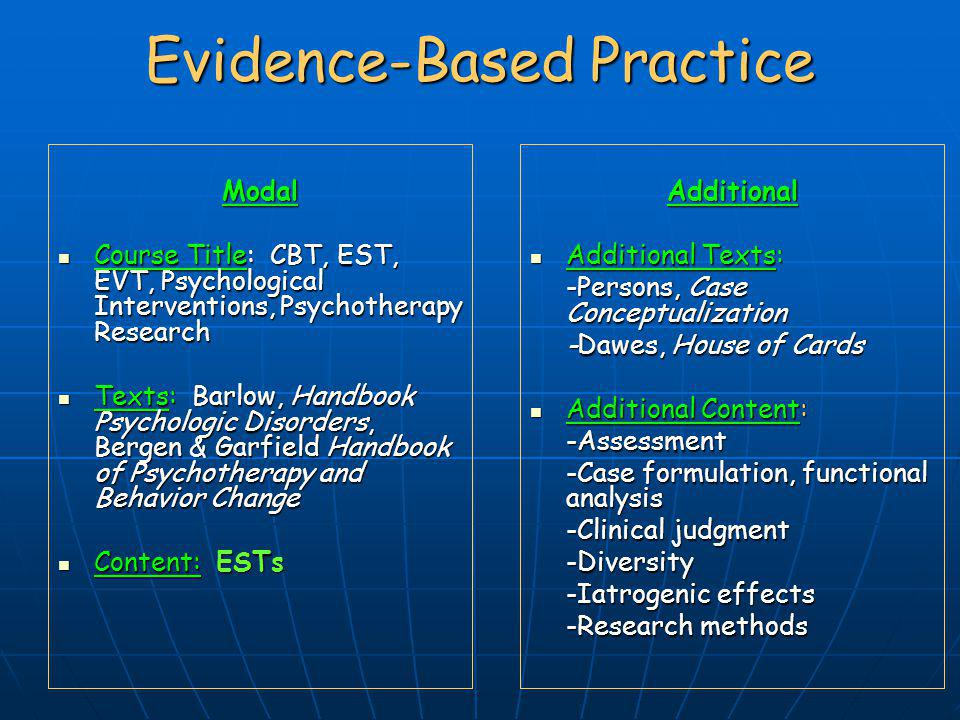 Evidence Based Medicine – New Approaches and Challenges