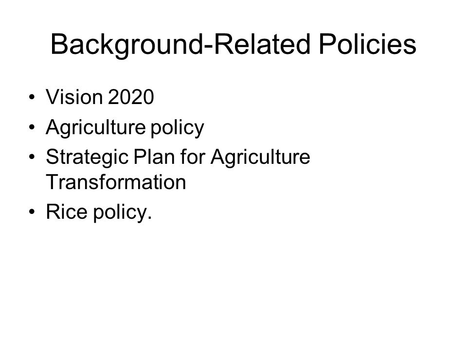 Background-Related Policies