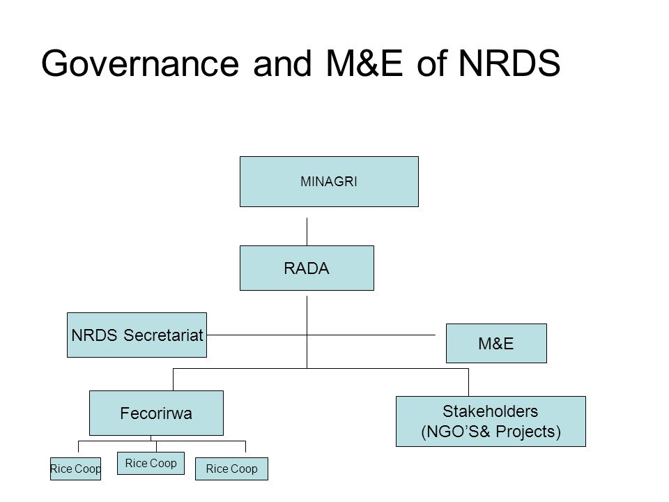 Governance and M&E of NRDS