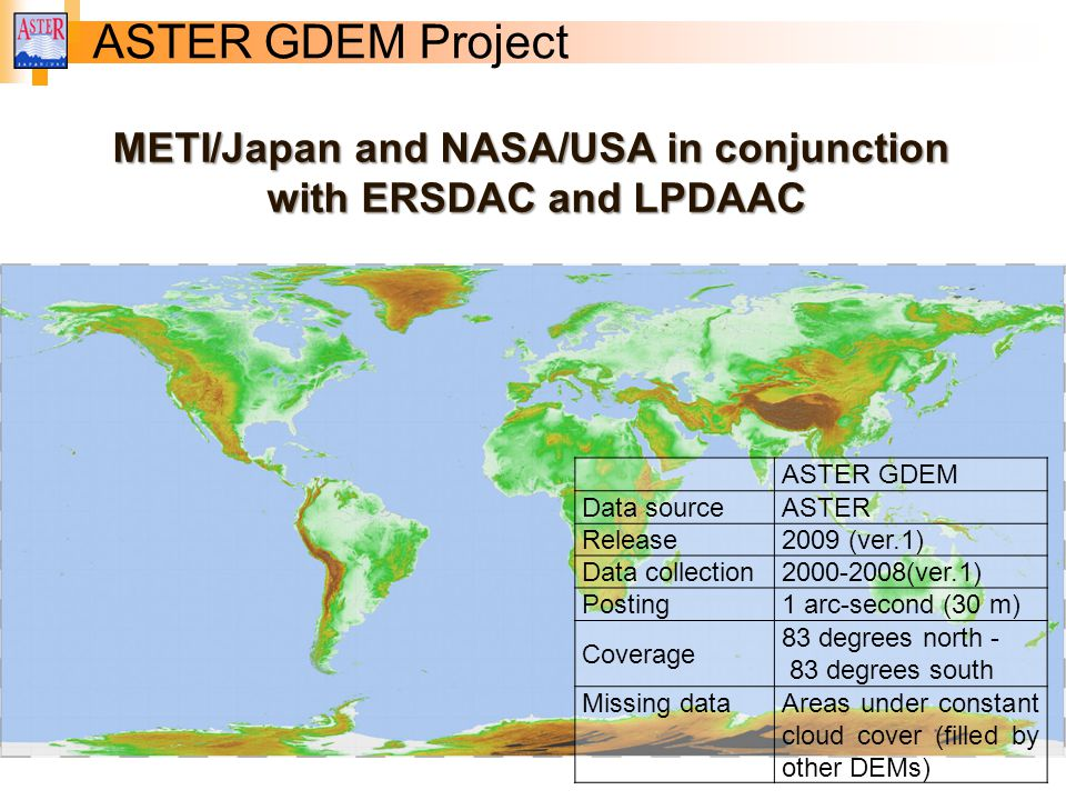 METI/Japan and NASA/USA in conjunction
