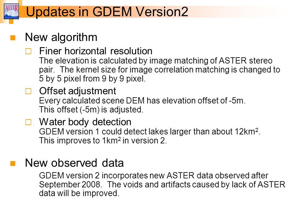 Updates in GDEM Version2