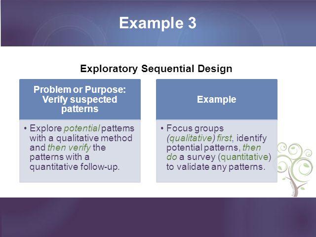 Problem or Purpose: Verify suspected patterns
