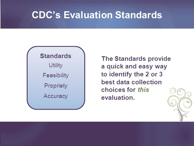 CDC's Evaluation Standards