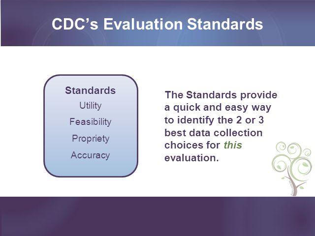 CDC's Evaluation Standards