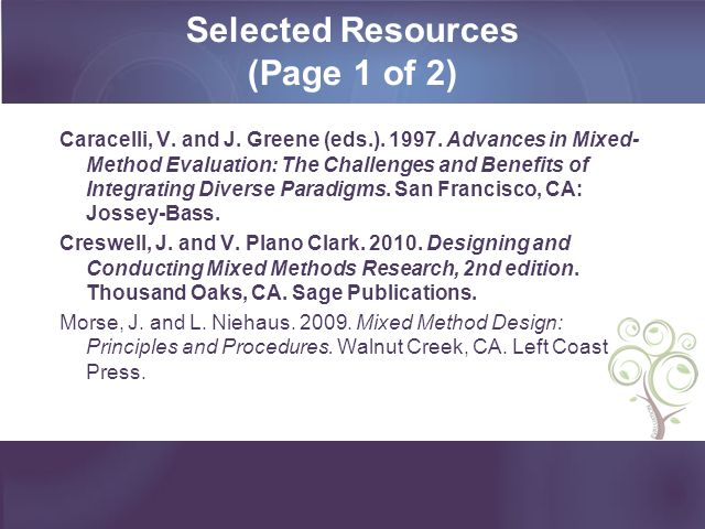 Selected Resources (Page 1 of 2)