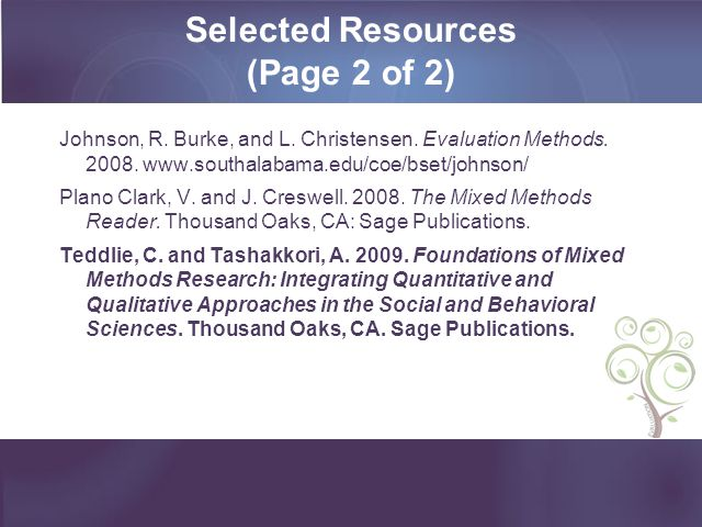 Selected Resources (Page 2 of 2)