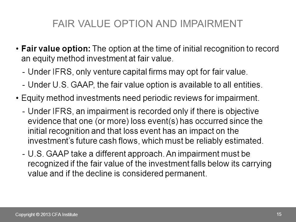 Fair value option and impairment