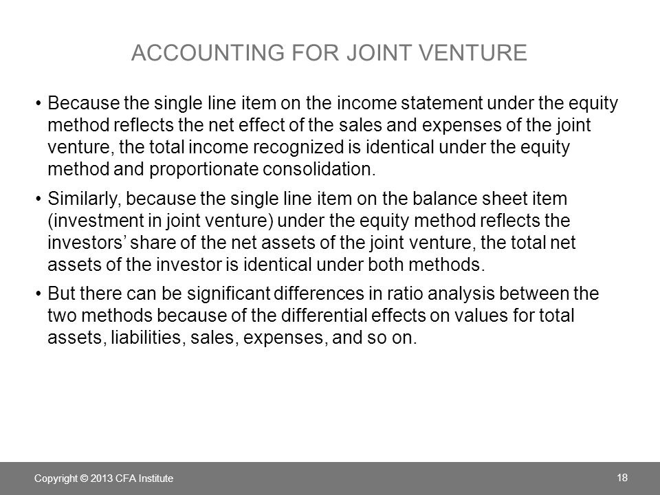 Accounting for Joint venture
