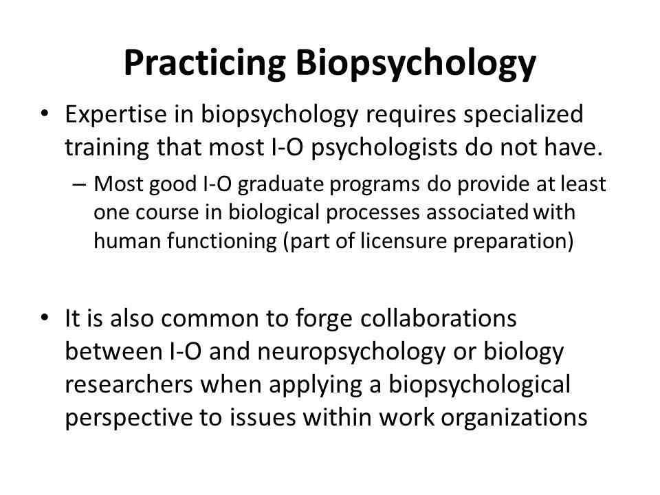 Practicing Biopsychology
