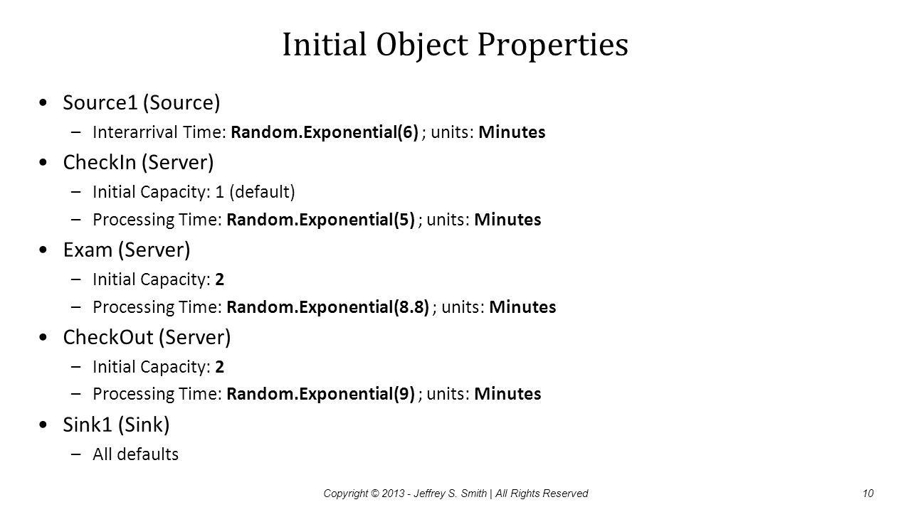 Initial Object Properties