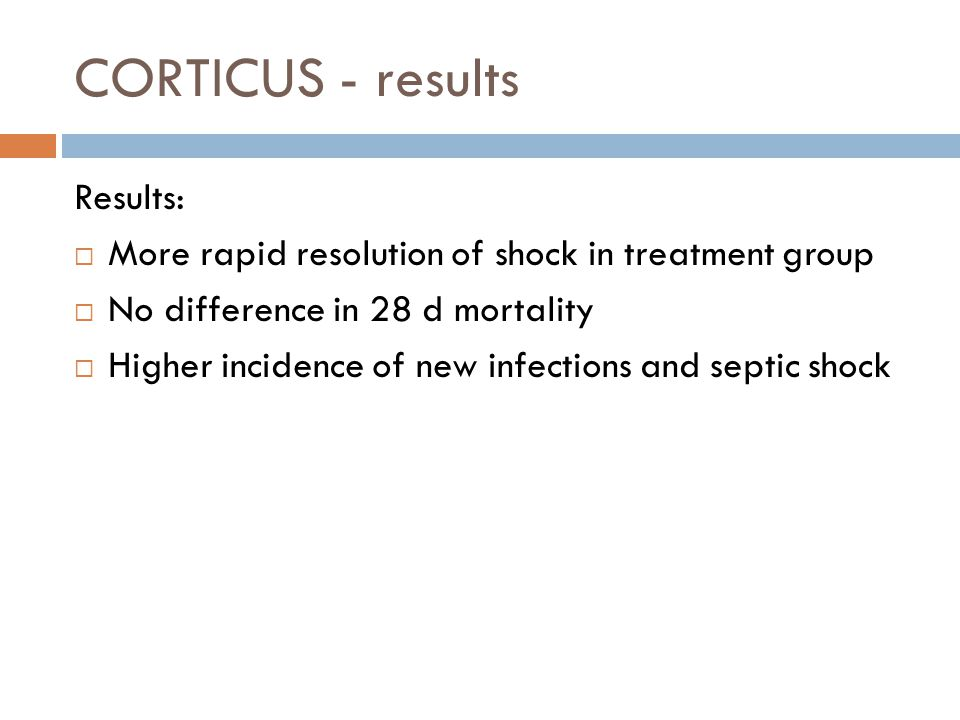 CORTICUS - results Results: