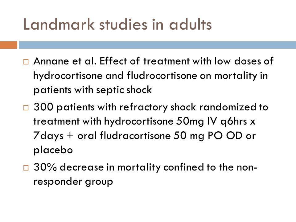 Landmark studies in adults