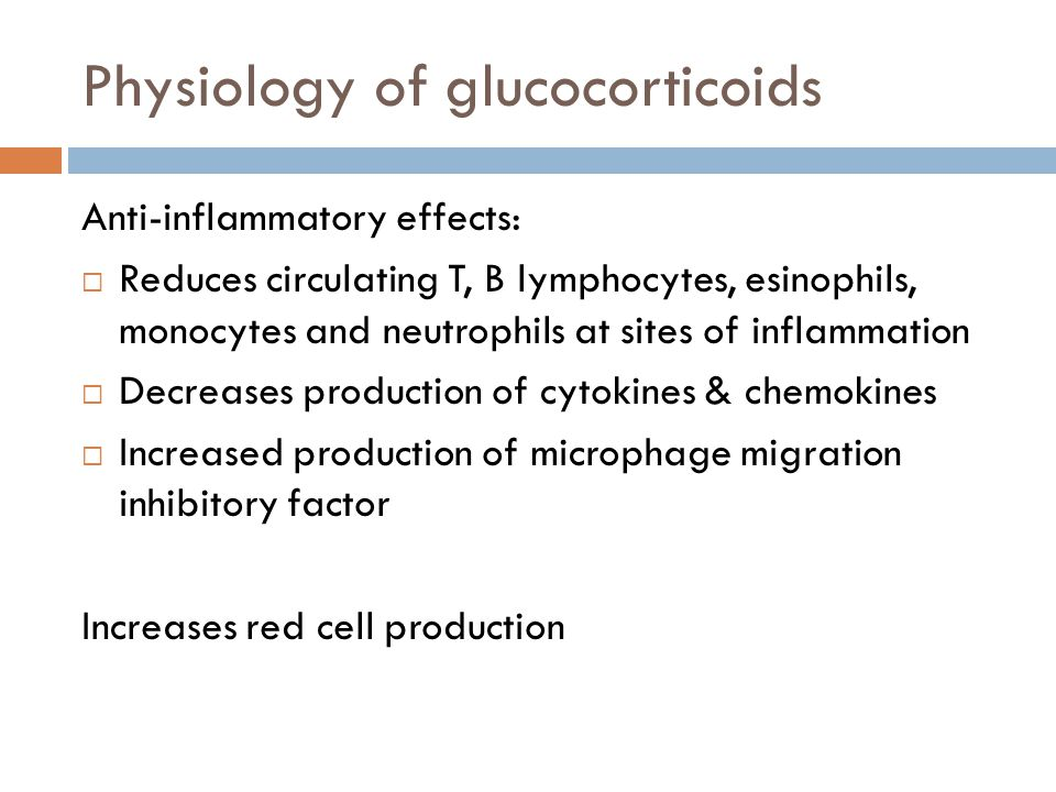 Physiology of glucocorticoids