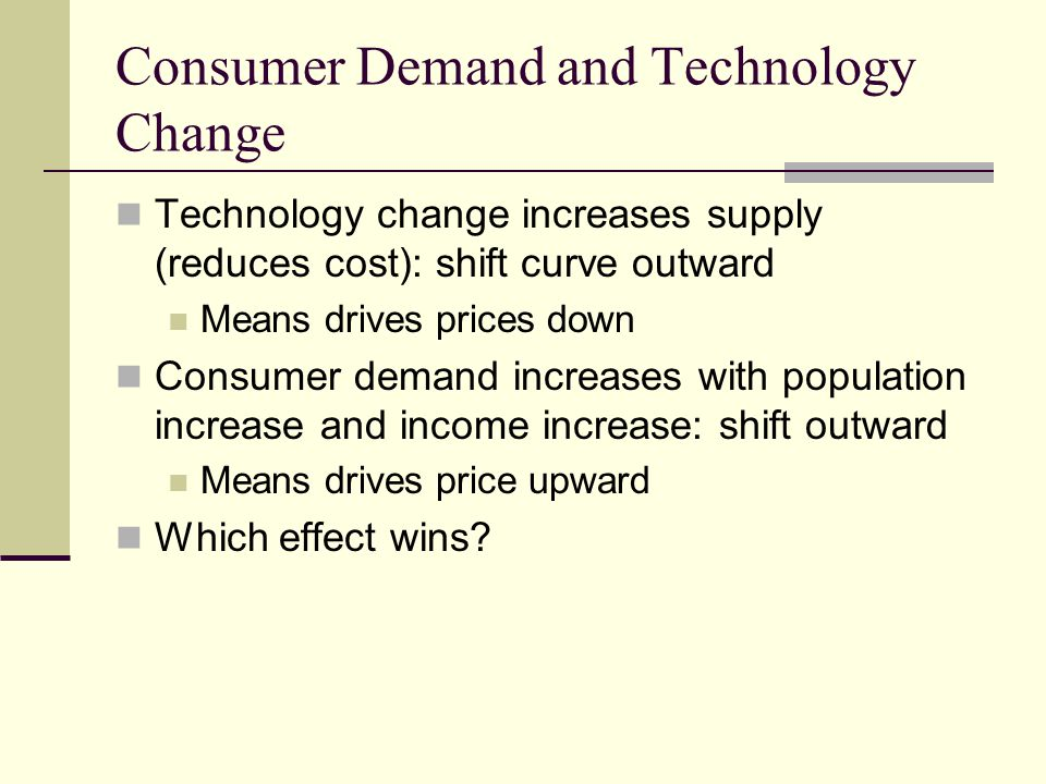 Consumer Demand and Technology Change