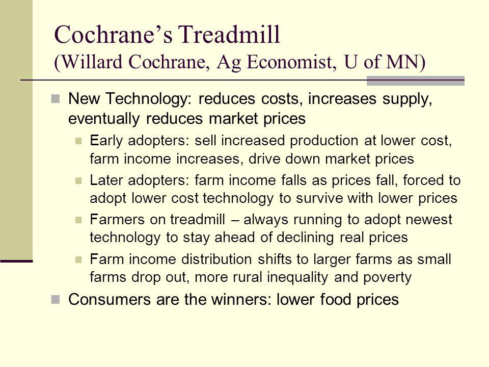 Cochrane's Treadmill (Willard Cochrane, Ag Economist, U of MN)
