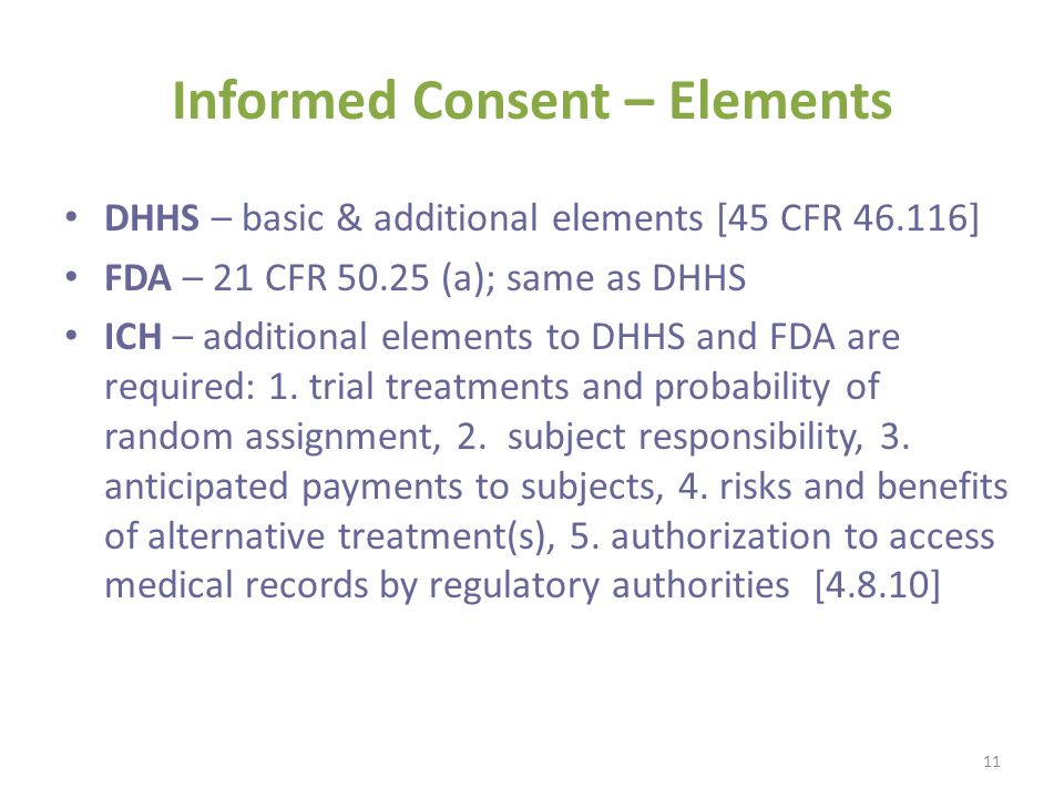 Informed Consent – Elements