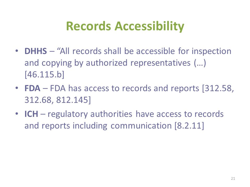 Records Accessibility