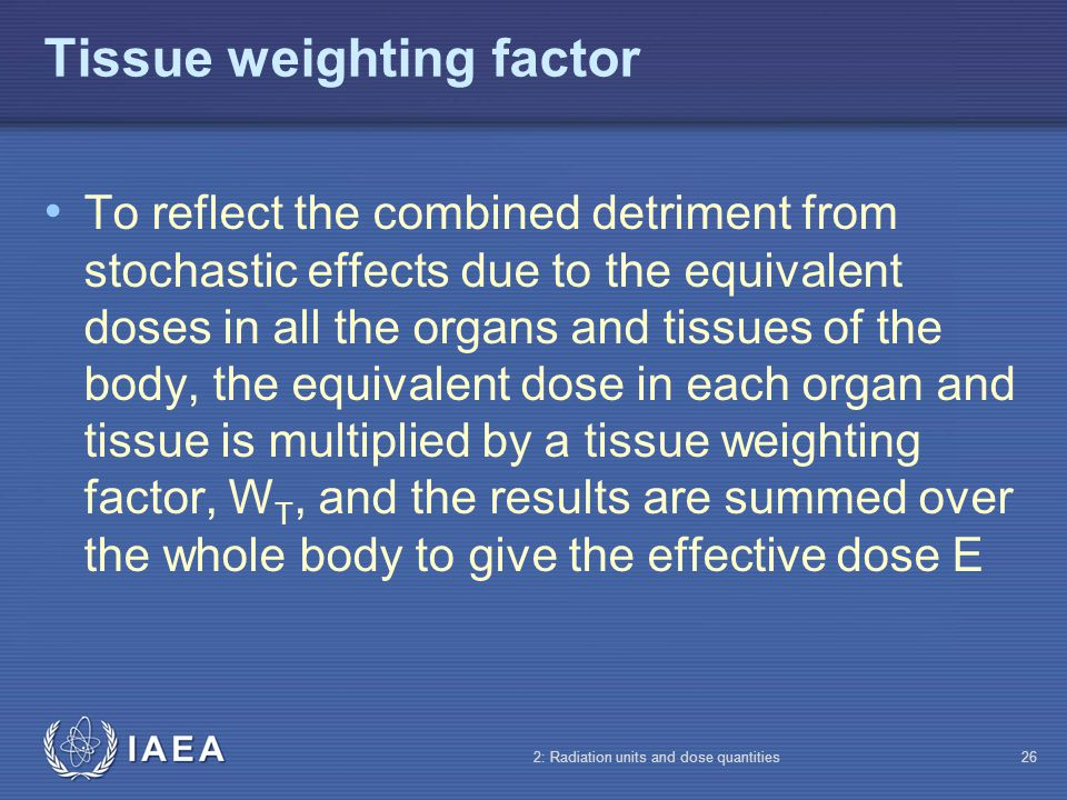 Tissue weighting factor