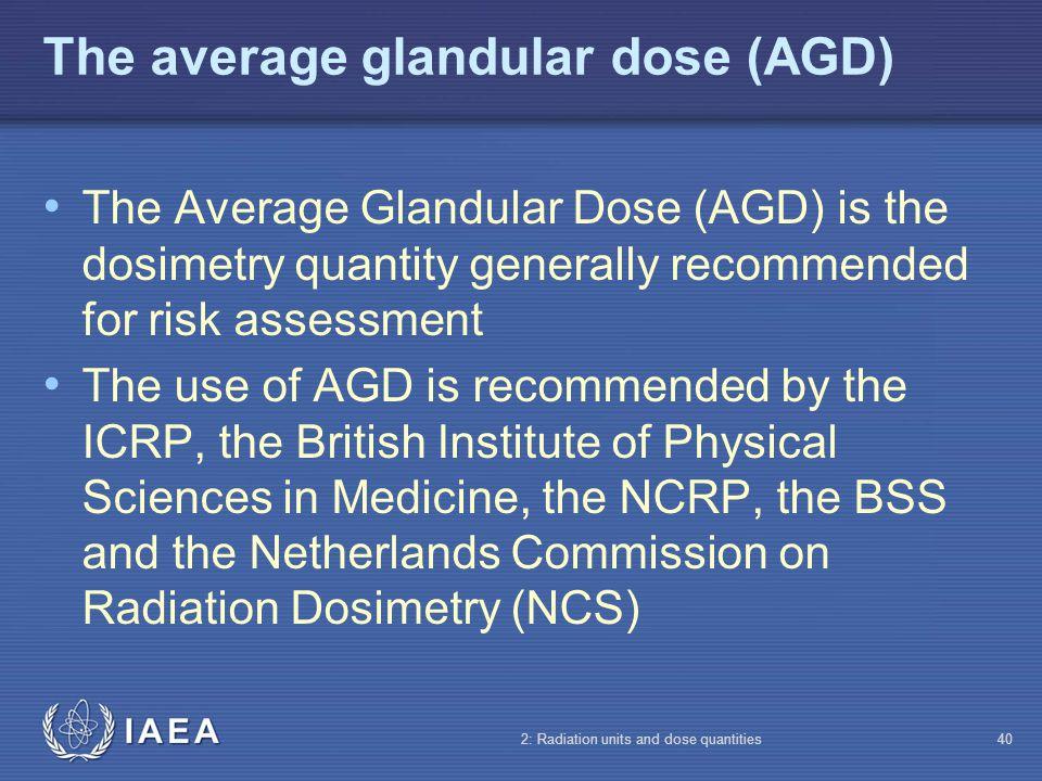 The average glandular dose (AGD)