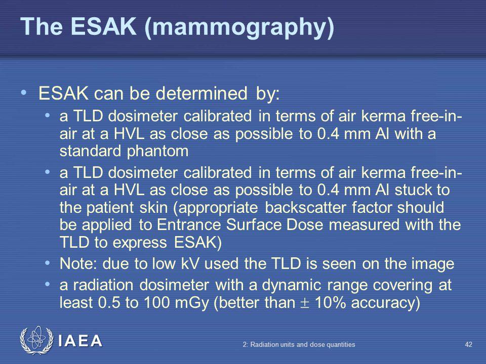 The ESAK (mammography)