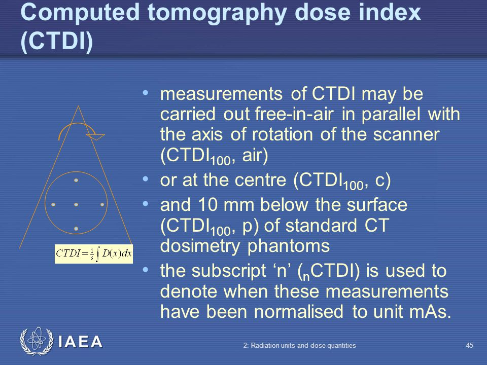 Computed tomography dose index (CTDI)