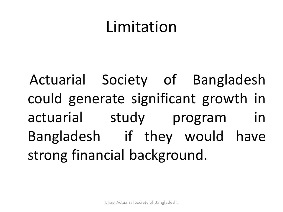 Elias- Actuarial Society of Bangladesh.