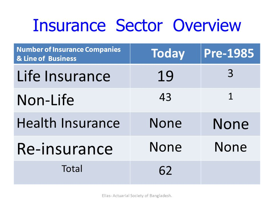 Insurance Sector Overview