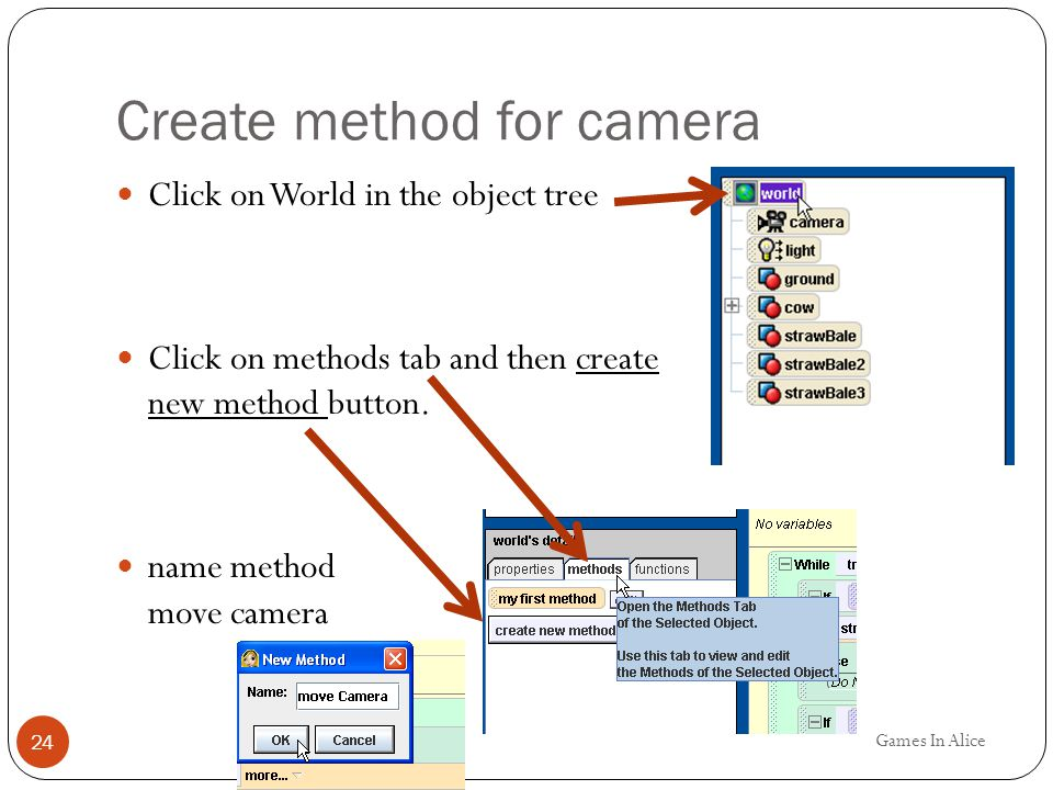 Create method for camera