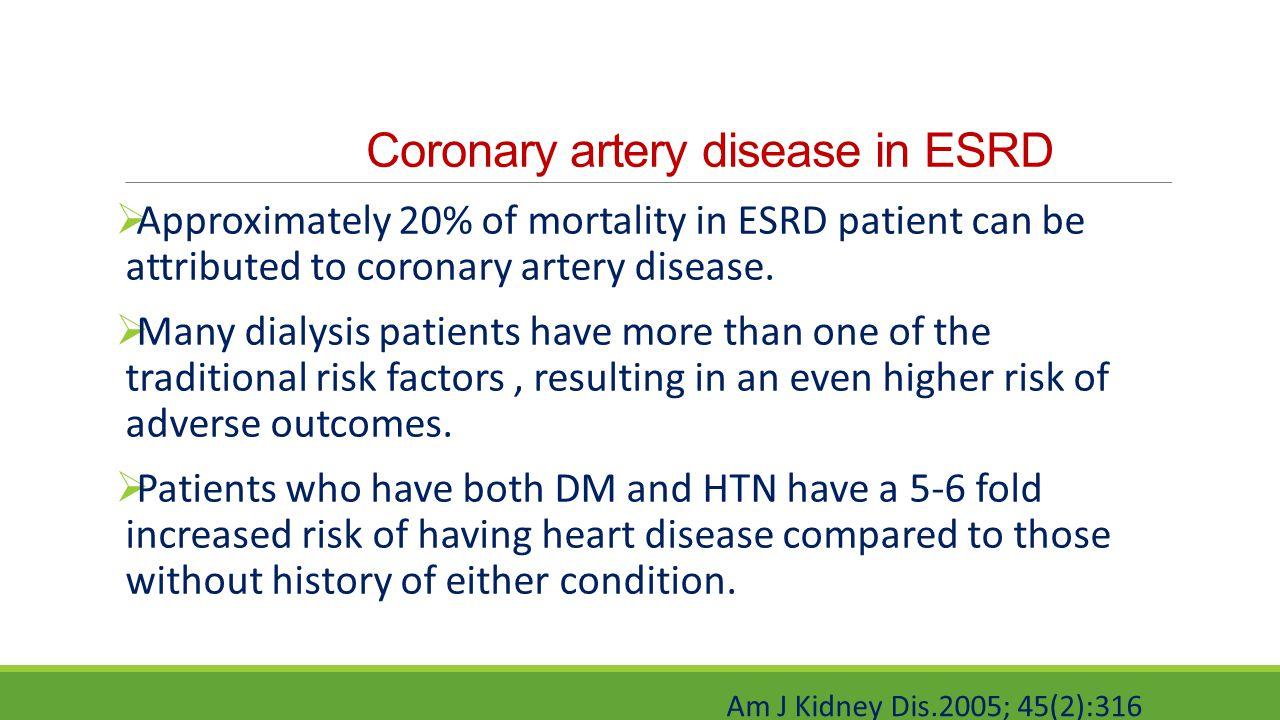 Coronary artery disease in ESRD