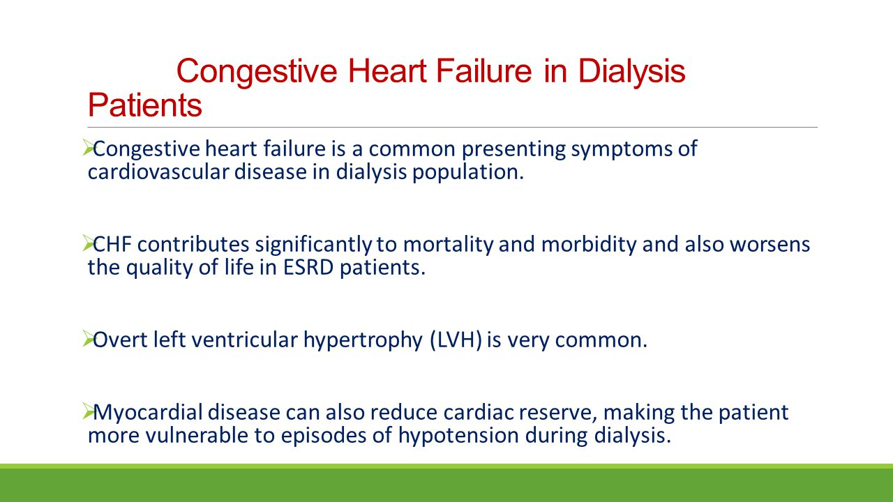 Congestive Heart Failure in Dialysis Patients