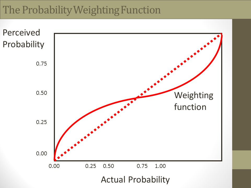 The Probability Weighting Function