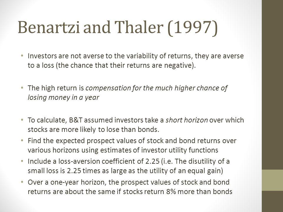 Benartzi and Thaler (1997)