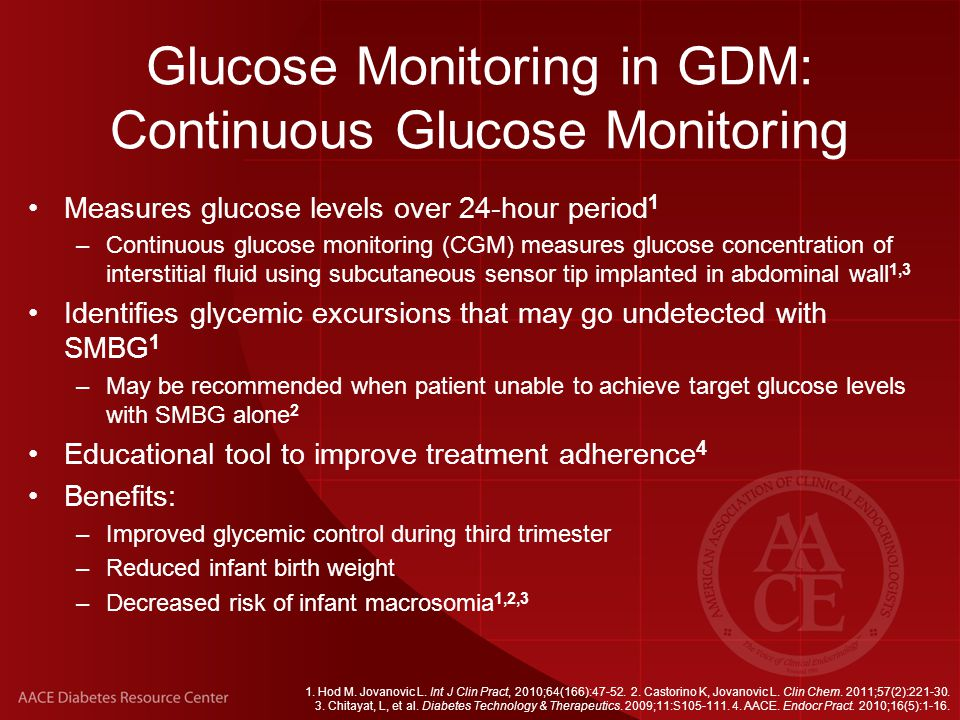 Glucose Monitoring in GDM: Continuous Glucose Monitoring
