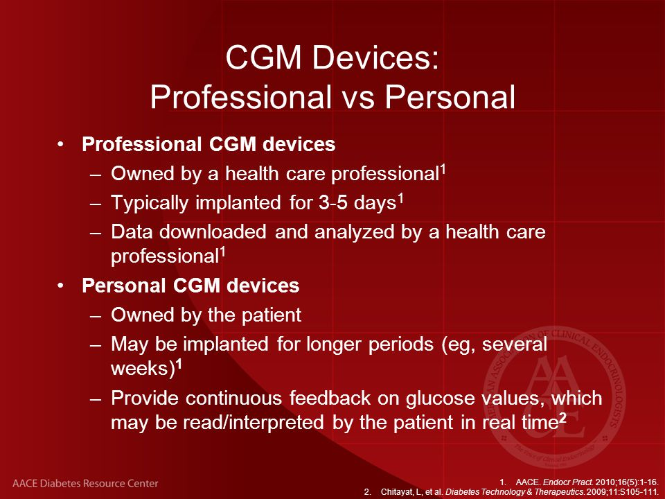 CGM Devices: Professional vs Personal