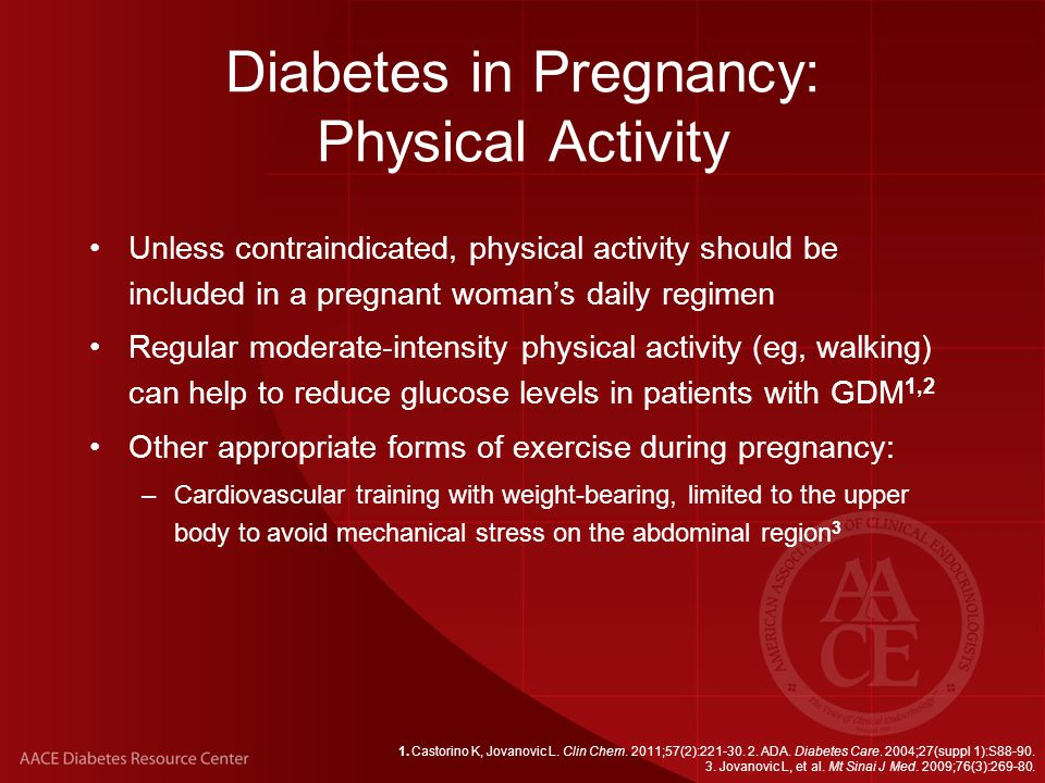 Diabetes in Pregnancy: Physical Activity
