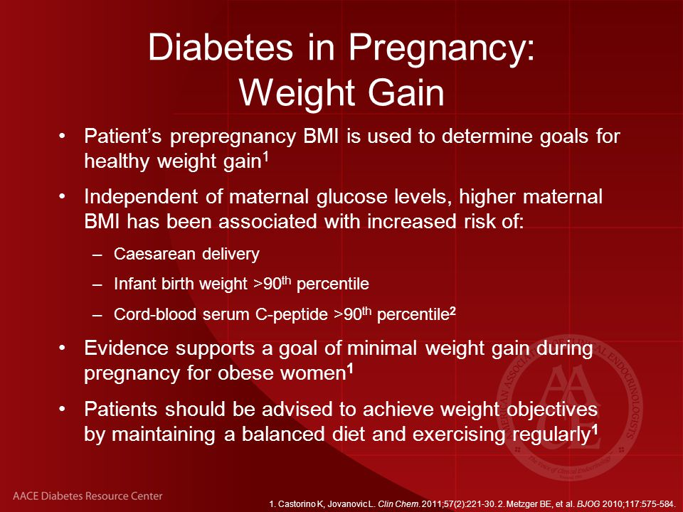 Diabetes in Pregnancy: Weight Gain