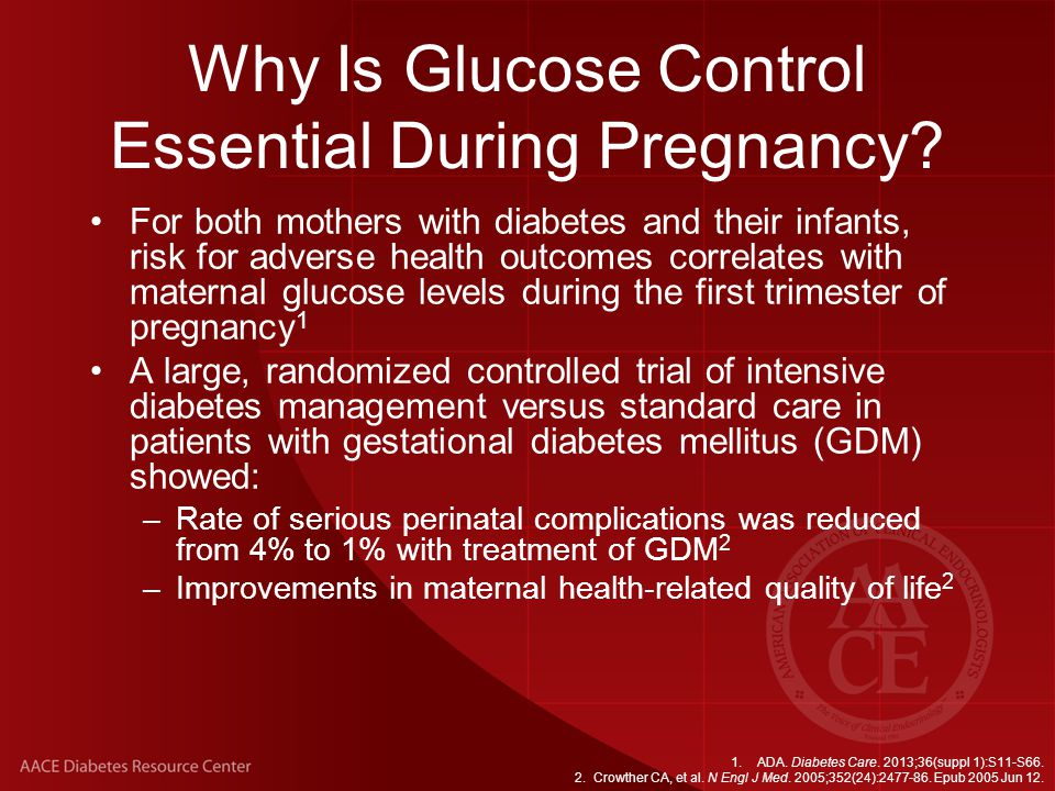 Why Is Glucose Control Essential During Pregnancy